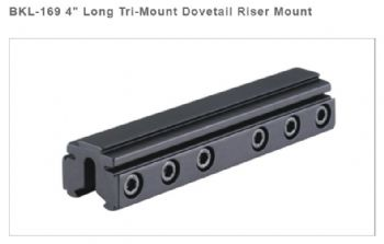 "BKL 169 4"" Tri Mount Risers for 9-11mm Dovetail bases airgun rimfire"
